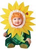 Fato Flor girassol bebé