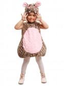 Fato hipopótamo de peluche infantil