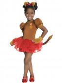 Fato Leão do Feiticeiro de Oz para menina