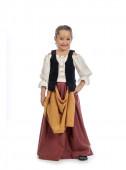 Fato medieval menina camponesa