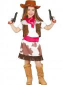 Fato Menina Cowgirl Rosa