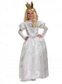 Fato Mirana a rainha branca Alice no país das maravilhas