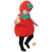 Fato Morango Bebé