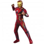 Fato musculado Iron Man Homem de Ferro