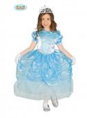 Fato Princesa Azul de cristal