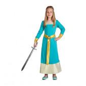 Fato princesa Medieval sky