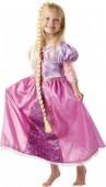 Fato Rapunzel Os Entrelaçados com trança Deluxe