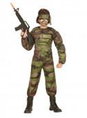 Fato soldado musculoso para menino
