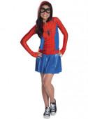 Fato Spidergirl com capuz