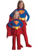 Fato Supergirl Azul e Vermelho