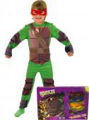Fato Tartarugas Ninja com caixa