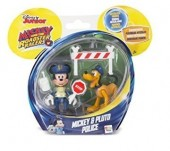 Figura Articulada Mickey + Pluto The Roadster Races