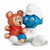 Figura Bebé Smurf com ursinho