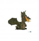 Figura Dragão Alado Verde com Fogo Papo