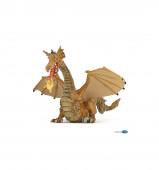 Figura Dragão Dourado com Fogo Papo