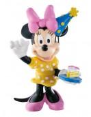 Figura Minnie Festa Aniversário 7cm
