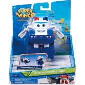 Figura Police Kim 20cm Super Wings Transforme