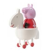 Figura Porquinha Peppa Cavalo 10cm