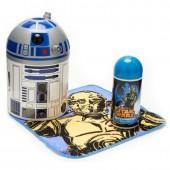 Figura R2D2+Toalha+Gel banho Star Wars