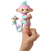 Fingerlings Ashley (rosa) - Macaquinho e Mini Mascote (Chance)