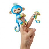 Fingerlings Billie (azul) - Macaquinho e Mini Mascote (Aiden)