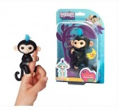 Fingerlings Finn (preto) - Macacos Interactivos