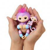 Fingerlings Violet (roxo) - Macaquinho e Mini Mascote (Hope)