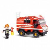 Fire Alarm Mini Camião dos Bombeiros 133 pcs Sluban