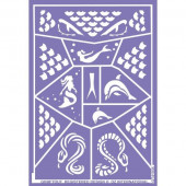 Folha de Stencil - Cobra e Sereia