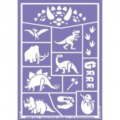 Folha de Stencil - Dinossauros