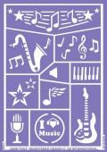 Folha de Stencil - Música