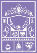 Folha de Stencil - Princesas