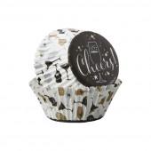 Forma de Papel Cup Cake Felicidades Wilton 75 unid