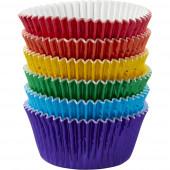 Formas de Papel Cup Cake Metalizado Wilton 72 unid