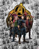 Fotomural TNT Avengers Infinity War - Pattern Box