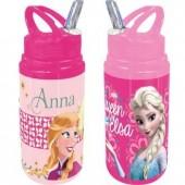 Garrafa aluminio c/ palhinha Disney Frozen Sisters sortido