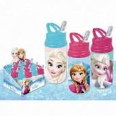 Garrafa aluminio c/ palhinha Disney Frozen - Sortido