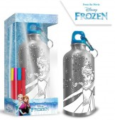 Garrafa de Alumínio para pintar Frozen Disney 500ml