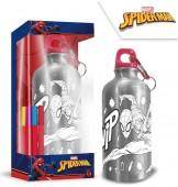 Garrafa de Alumínio para pintar Spiderman Marvel 500ml