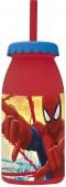 Garrafa plástica com palhinha - Spiderman