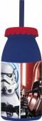 Garrafa plástica com palhinha Star Wars