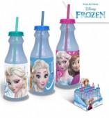 Garrafa Plástico c/ palhinha Frozen Disney 500ml - Sortido