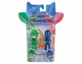 Gekko e Night Ninja - Pack de 2 figuras com Luz 8cm  PJ Masks