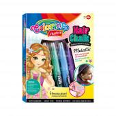 Giz de Cabelo Rapariga Set 5 Peças Mix Metálico Colorino