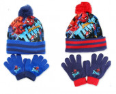 Gorro com Pompom + Luvas Spiderman