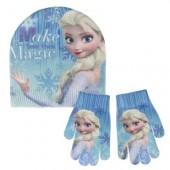 Gorro + luvas c/ glitter Frozen Disney