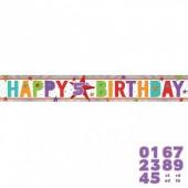 Grinalda  holográfica Happy Birthday personalizável - 1,8 m