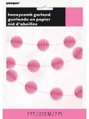 Grinalda Papel Ninho de Abelhas Rosa