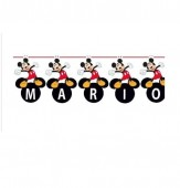 Grinalda Personalizável + Letras Autocolantes do Mickey 3,65m