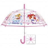 Guarda-chuva automático transparente bolha Princesas Disney